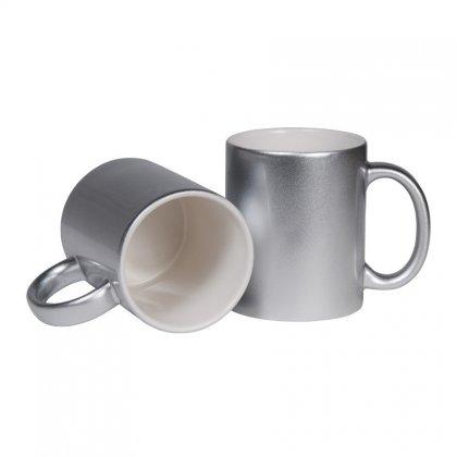 Personalized Bone China Silver Coated Mug