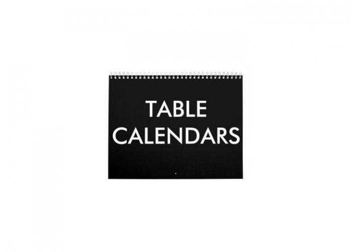 Personalized Table Calandar