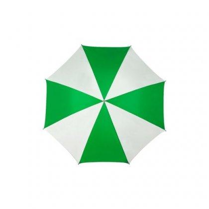 Personalized Two Color Green White Umbrella